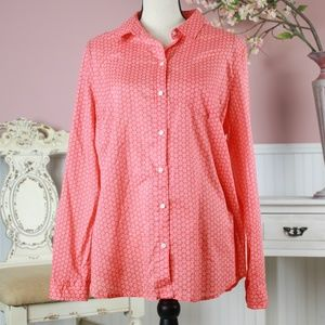 Old Navy Pink Floral Button Down Shirt Size XL